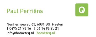 Visitekaartje hometeq